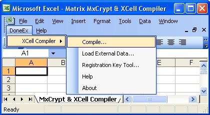 Matrix: Excel copy protection, Excel license and file